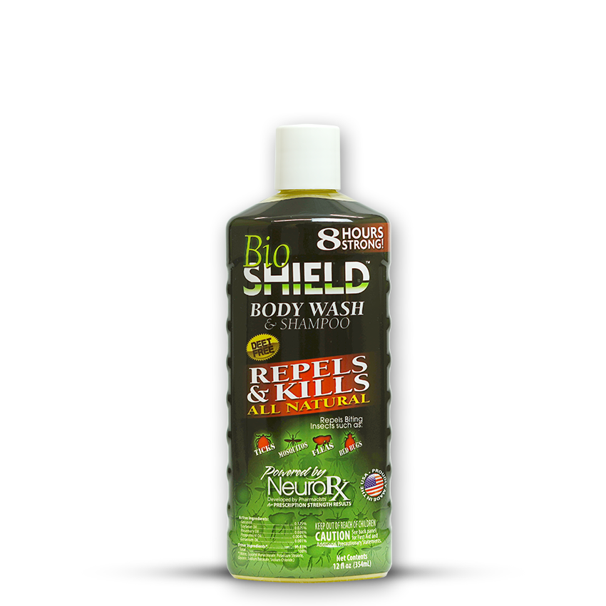 BS1002 BioShield Body Wash and Shampoo 12oz Bug Repellent