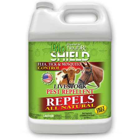 BioShield Livestock Bug Repellent in a 1 gallon container